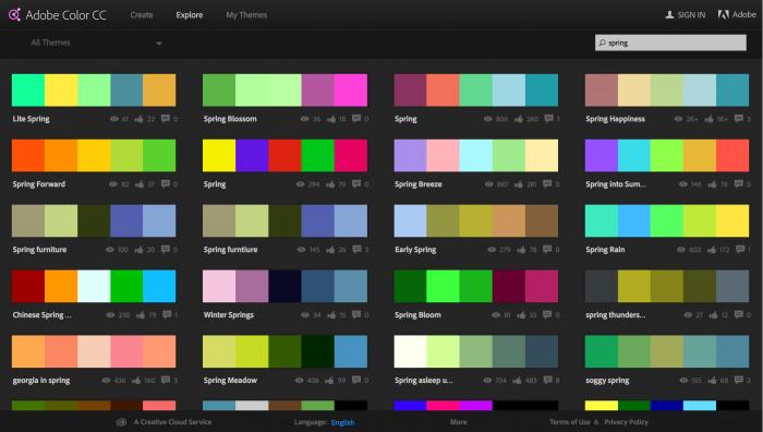 kuler-palette-graphique-generateur-choix